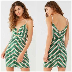 Line + Dot 70's Striped Mini Dress